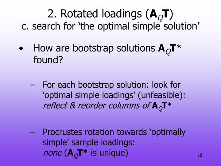 2. Rotated loadings