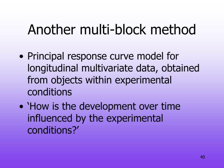 Another multi-block method
