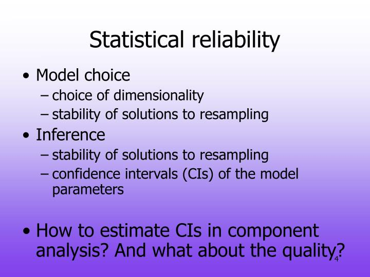 Statistical reliability