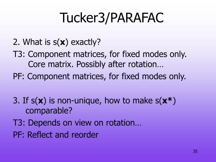 Tucker3/PARAFAC