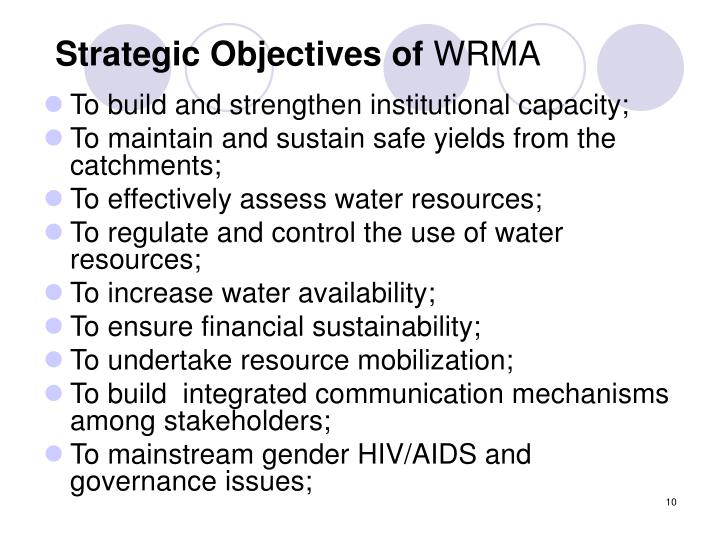 Strategic Objectives of