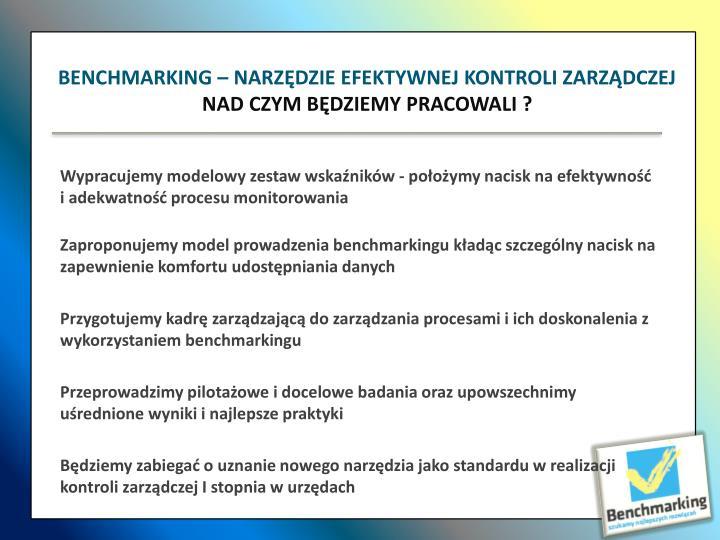 Wypracujemy modelowy zestaw wskaźników - położymy nacisk na efektywność i adekwatność procesu monitorowania