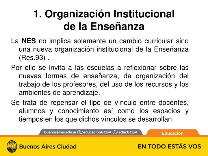 1 organizaci n institucional de la ense anza