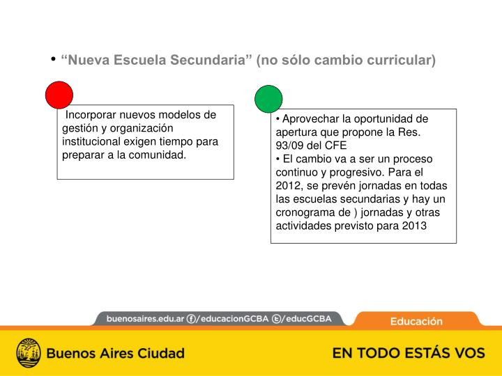 """""""Nueva Escuela Secundaria"""" (no sólo cambio curricular)"""