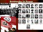 bolsheviks in power