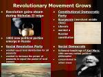 revolutionary movement grows