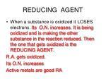 reducing agent