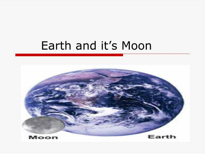 earth and it s moon n.