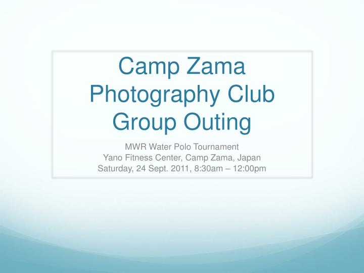 camp zama photography club group outing n.
