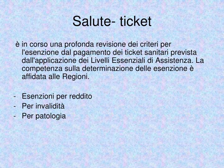 Salute- ticket