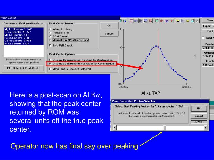 Here is a post-scan on Al K