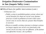 irrigation drainwater contamination in san joaquin valley cont1