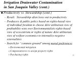 irrigation drainwater contamination in san joaquin valley cont5