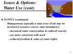 issues options water use cont