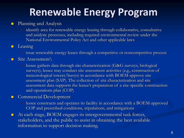 Renewable Energy Program