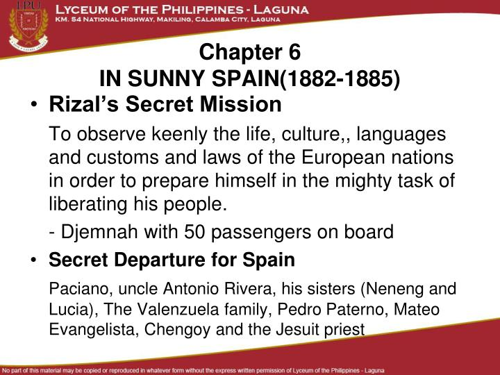 Ppt chapter 6 in sunny spain1882 1885 powerpoint presentation chapter 6in sunny spain1882 1885 rizals secret mission toneelgroepblik Images