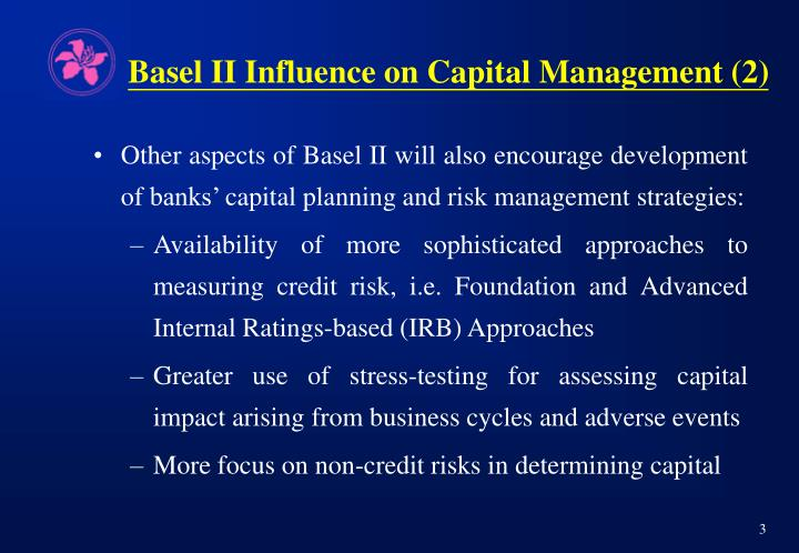 Basel ii influence on capital management 2