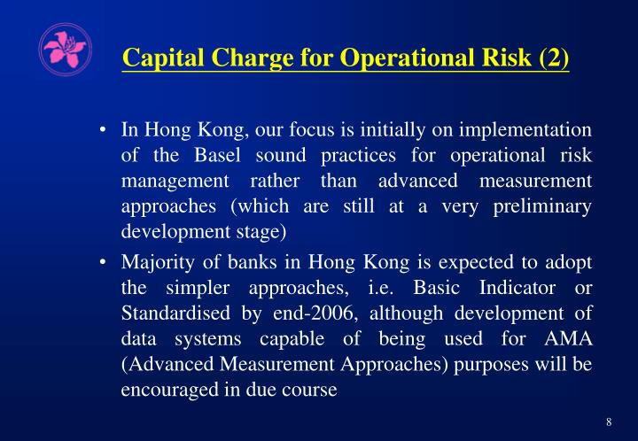 Capital Charge for Operational Risk (2)