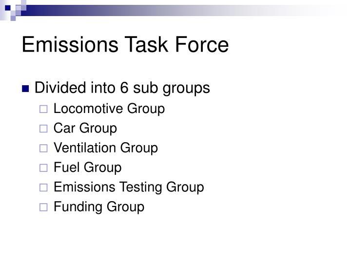 Emissions task force