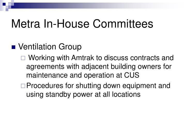 Metra In-House Committees