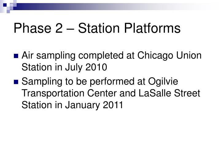 Phase 2 – Station Platforms