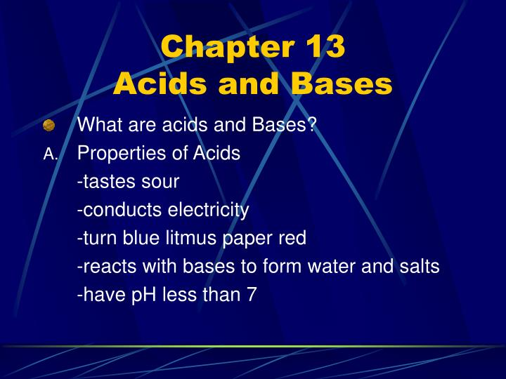 chapter 13 acids and bases n.