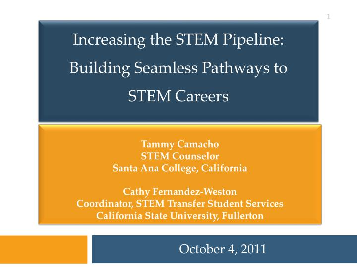 Increasing the STEM Pipeline: Building Seamless Pathways to