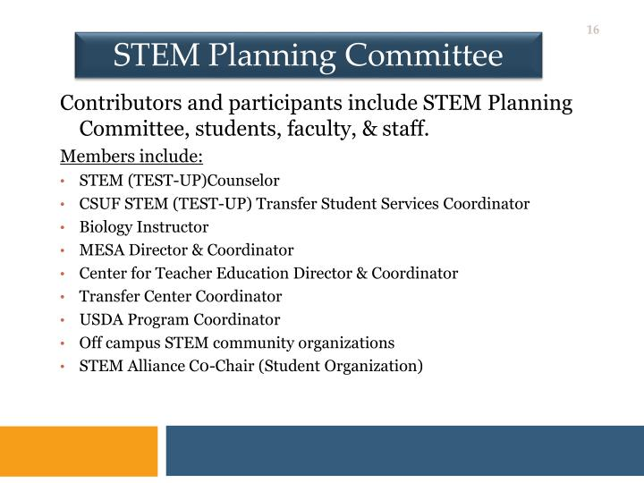 STEM Planning Committee