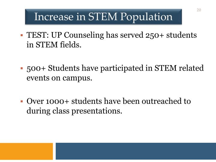 Increase in STEM Population