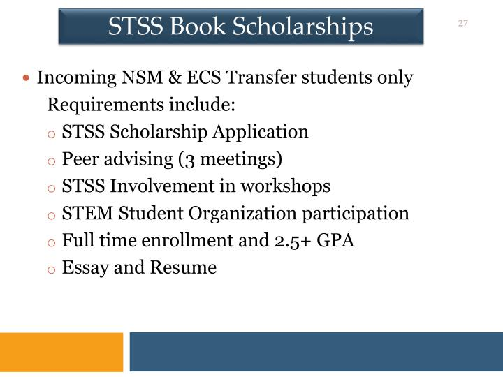 STSS Book Scholarships