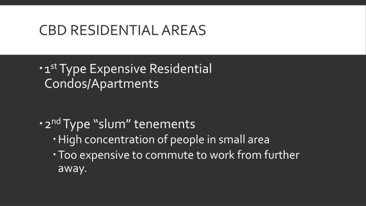CBD Residential Areas