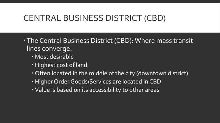 Central business district cbd