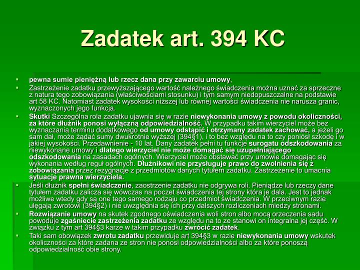 Zadatek art. 394 KC