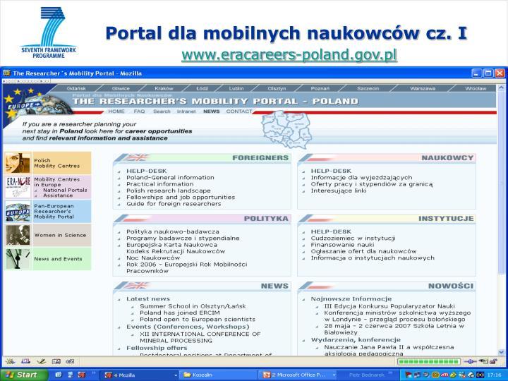 Portal dla mobilnych naukowców cz. I