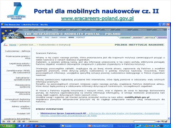 Portal dla mobilnych naukowców cz. II
