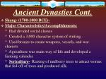 ancient dynasties cont