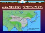 han dynasty 207bce 220 ce1