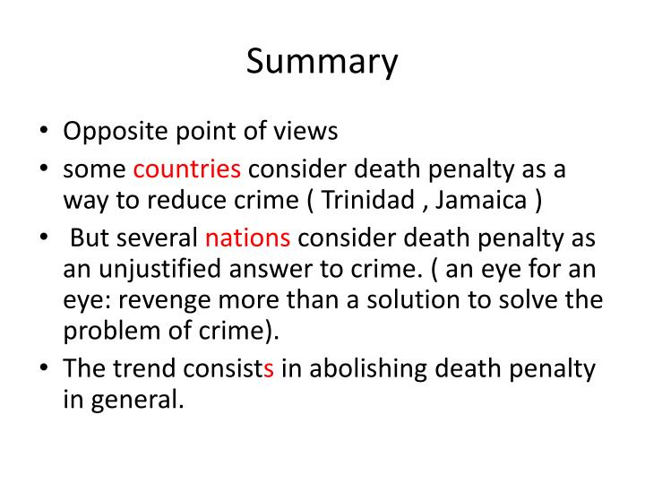 a summary on death penalty Since the current death penalty was enacted in california in 1978, over 900 individuals have received a death sentence as of october 2015, 15 have been executed, 102 have died prior to being executed, 747 are in state prison with death sentences, and the remainder have had their sentences reduced by the courts.
