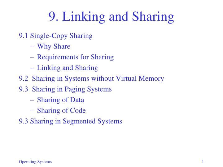 9 linking and sharing n.