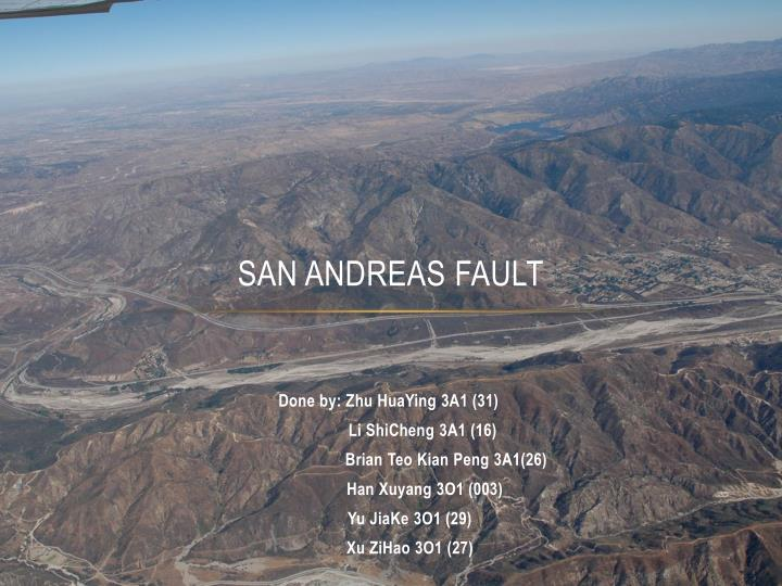 Ppt: earthquakes & san andreas fault | home page | ms. Laura branch.