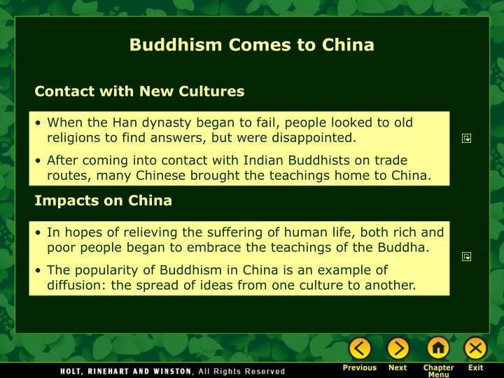 Buddhism Comes to China