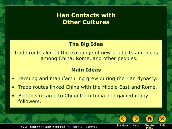 Han Contacts with