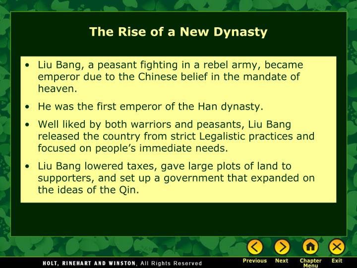 The Rise of a New Dynasty