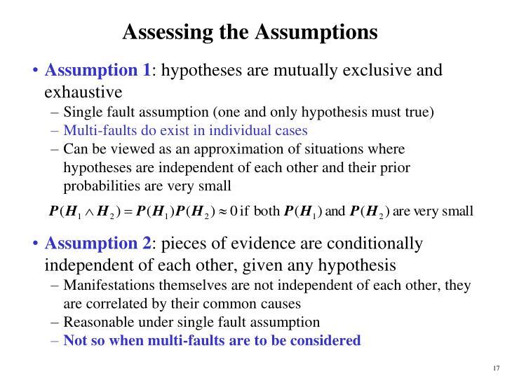 Assessing the Assumptions