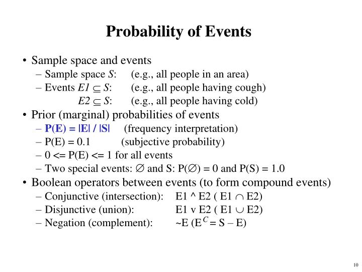 Probability of Events