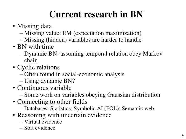 Current research in BN