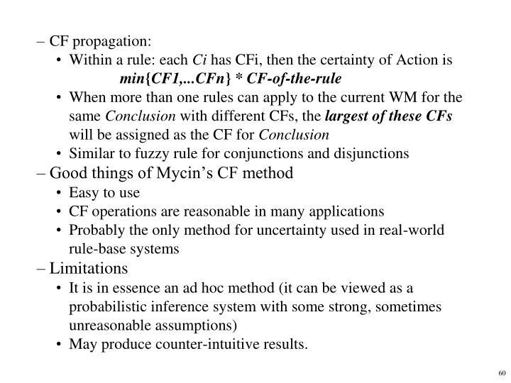 CF propagation: