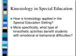 kinesiology in special education