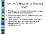 mosston s spectrum of teaching styles