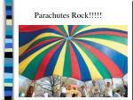 parachutes rock